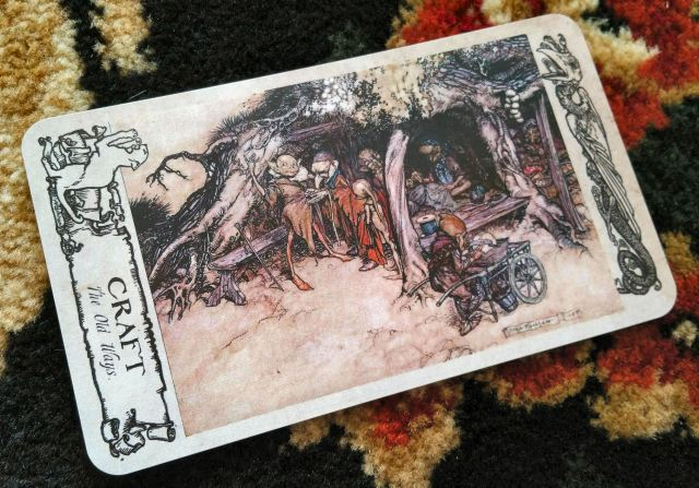 Arthur Rackham Oracle 11 Craft Card