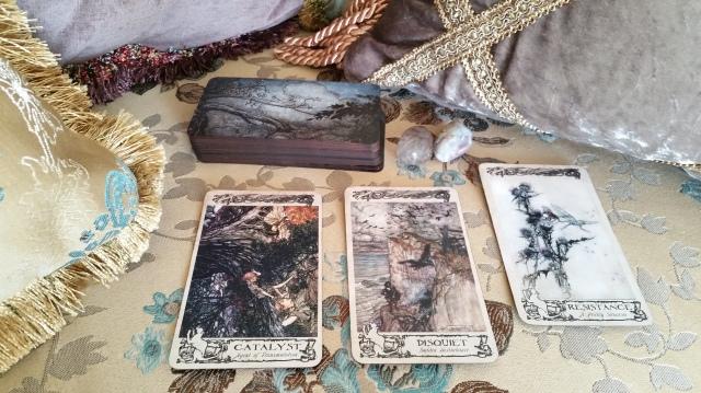 Arthur Rackham Oracle 14 Cards Layout