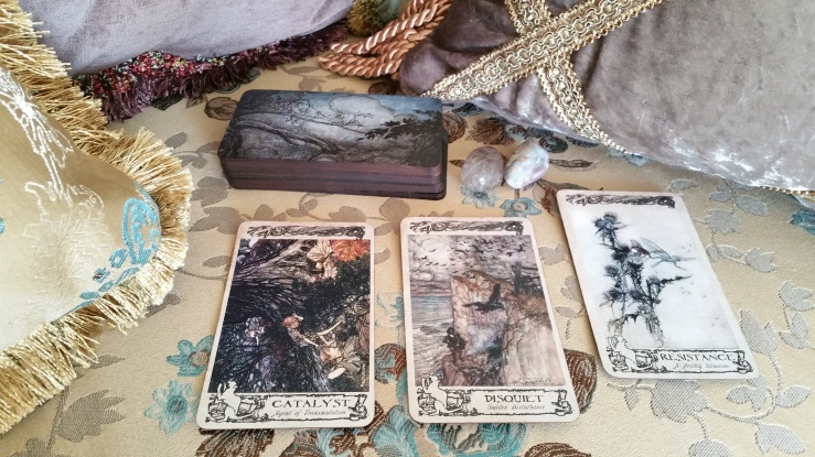 Arthur Rackham Oracle 14 Cards Layout