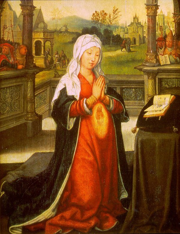 St. Anne Conceiving the Virgin Mary, by Jean Bellegambe (1480 -1535 )