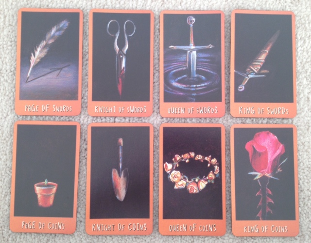 Ravens Prophecy Tarot - Courts Swords and Coins