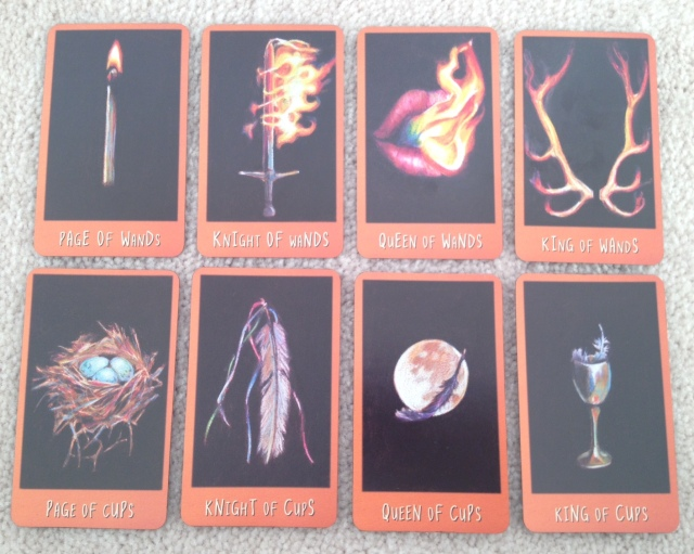 Ravens Prophecy Tarot - Courts Wands and Cups