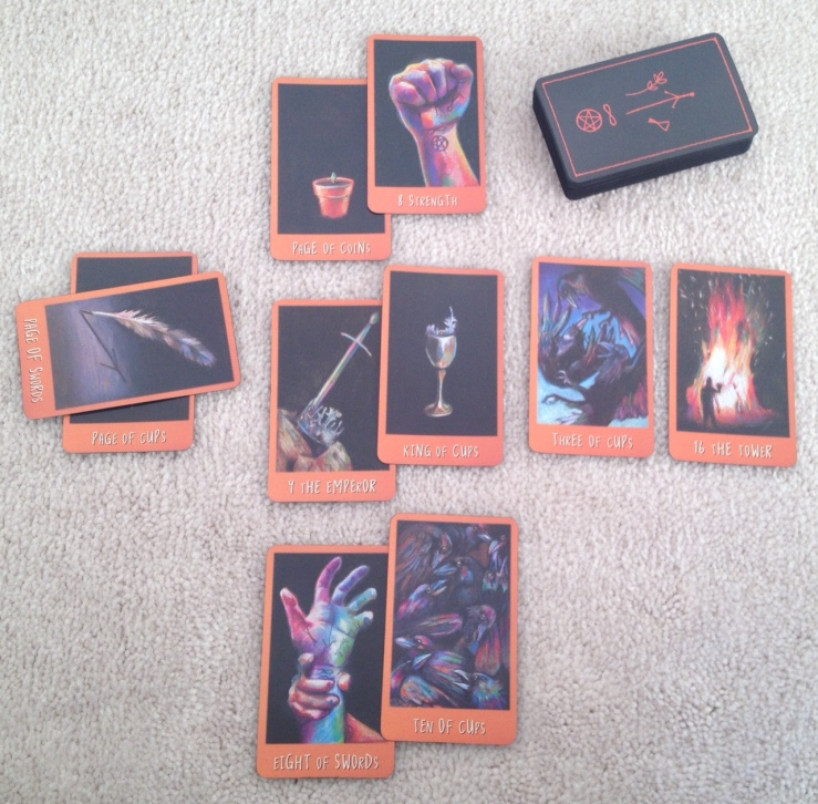 Ravens Prophecy Tarot - First Reading Spread