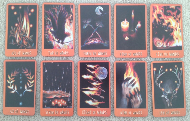 Ravens Prophecy Tarot - Minors 1 Wands