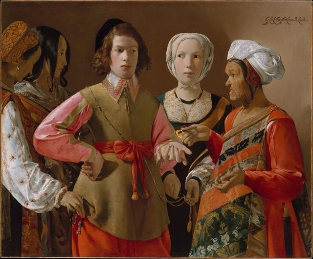"""""""The Fortune Teller"""" by Georges de La Tour (circa 1630s)."""