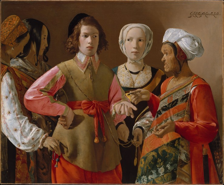 """The Fortune Teller"" by Georges de La Tour (circa 1630s)."
