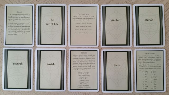 Tree of Life Kabbalah Learning Cards 04 Cards Back