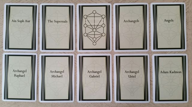 Tree of Life Kabbalah Learning Cards 05 Cards Front