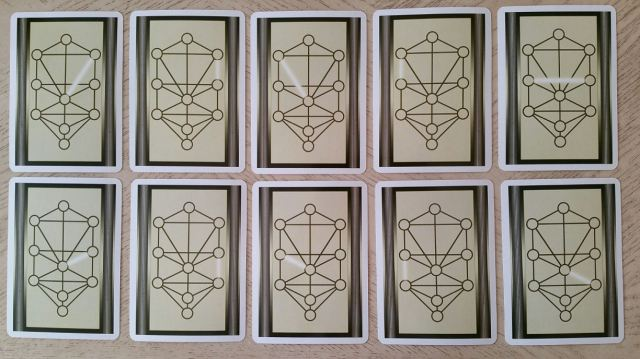Tree of Life Kabbalah Learning Cards 11 Cards Front