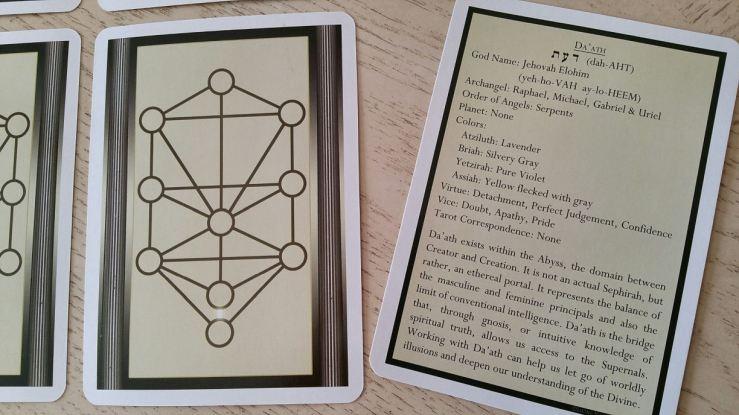 Tree of Life Kabbalah Learning Cards 13 Sample Card