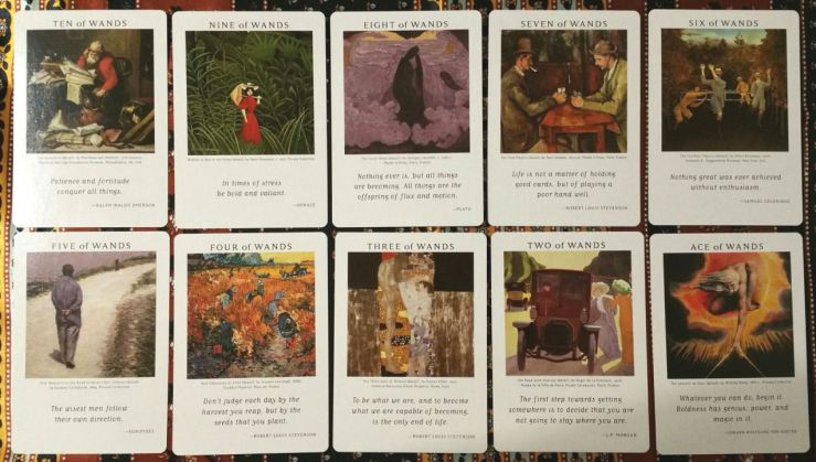 Art of Life Tarot 09 Minors Wands