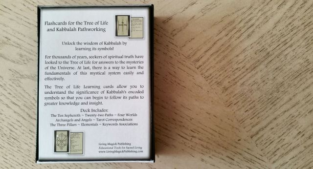 Tree of Life Kabbalah Learning Cards 16 Box Back