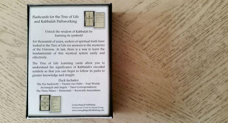 Tree of Life Kabbalah Learning Cards 16 Box Back