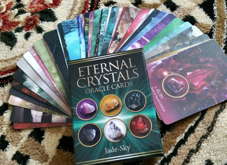 Eternal Crystals Oracle Cards 03 Box and Fan of Cards