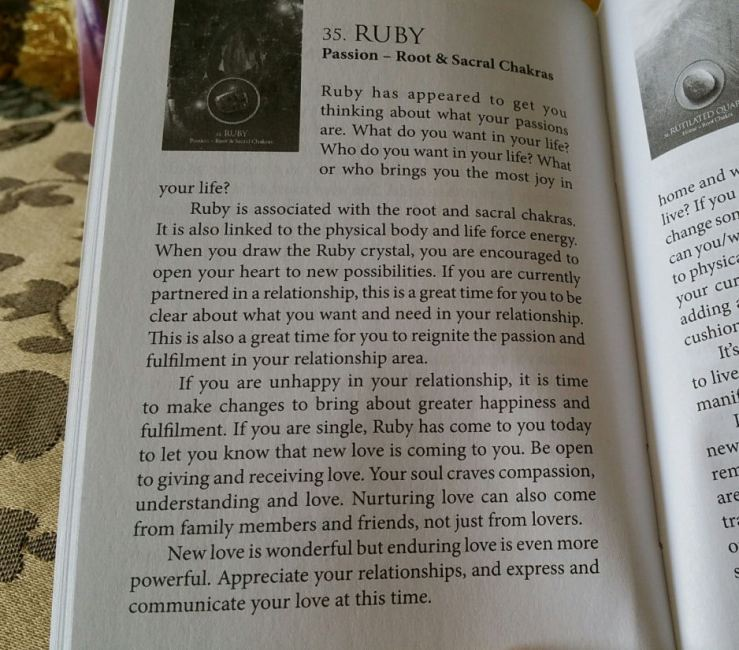 Eternal Crystals Oracle Cards 07 Ruby (Book Entry)