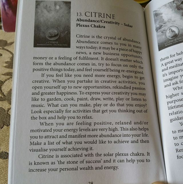 Eternal Crystals Oracle Cards 08 Citrine (Book Entry)