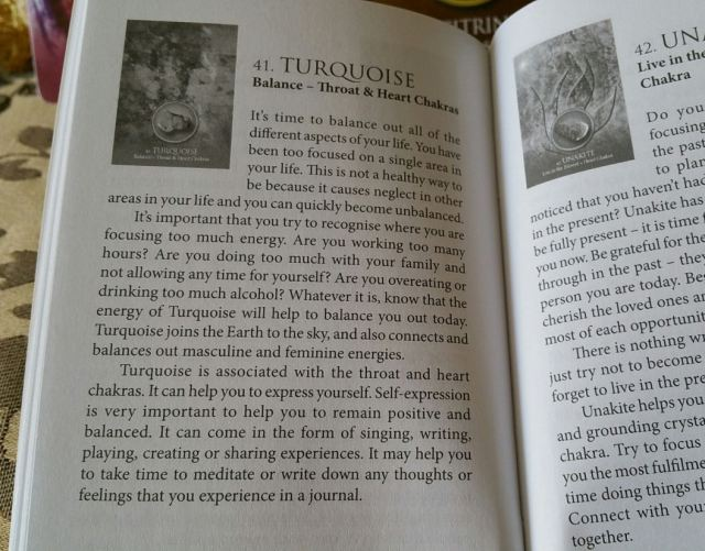 Eternal Crystals Oracle Cards 09 Turqoise (Book Entry)