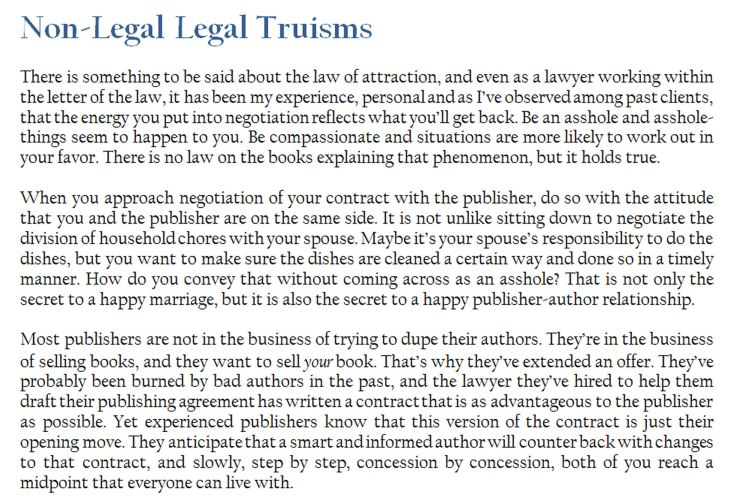 Workbook Screenshot - Non-Legal Legal Truisms