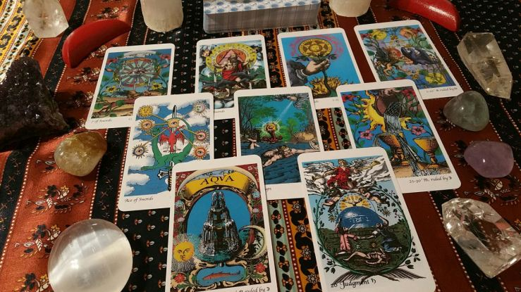Deck in Photograph: Tarot of the Holy Light