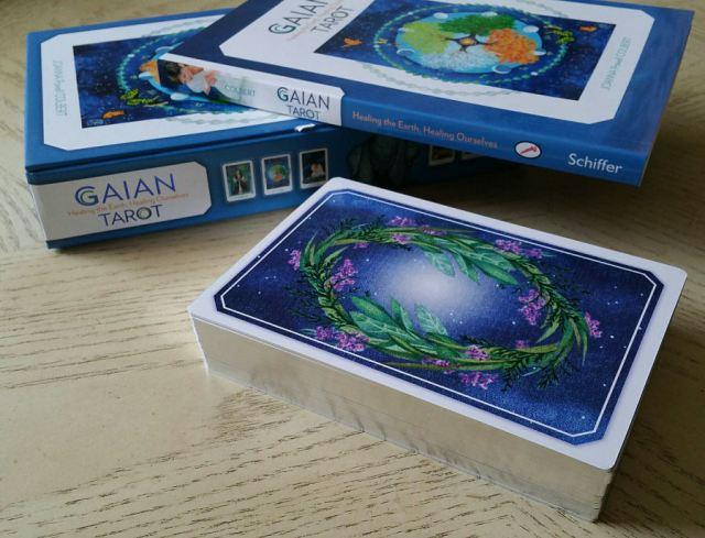 Gaian Tarot 06 Cards Gilded Silver Edging