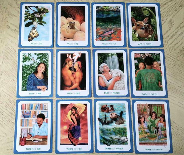 Gaian Tarot 17 Minors Ace to Three