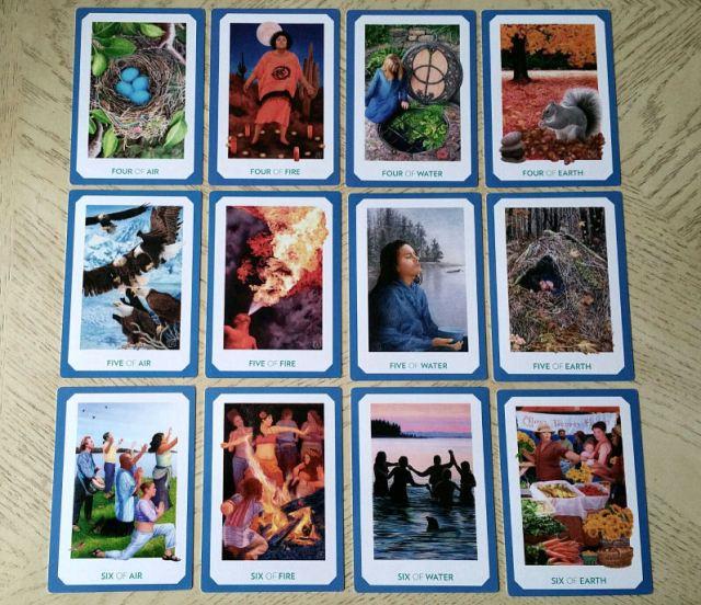 Gaian Tarot 18 Minors Four to Six