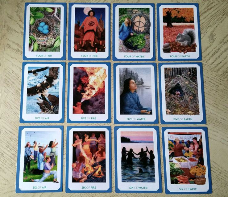Gaian Tarot 18 Minors Four to Six