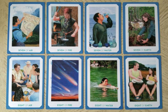 Gaian Tarot 19 Minors Seven Eight
