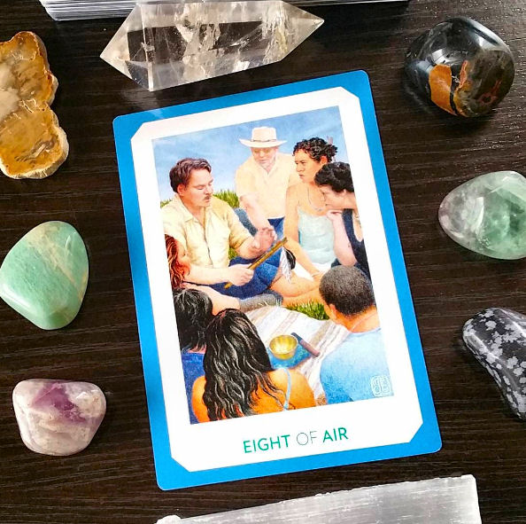 Gaian Tarot - Eight of Air