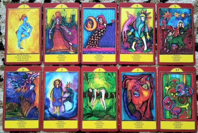 Gypsy Palace Tarot 08 Swords