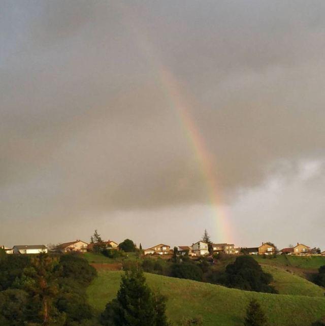 Rainbow Over Hill