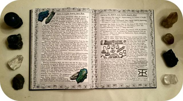 grimoire-book-of-shadows-bw-17-page-spread