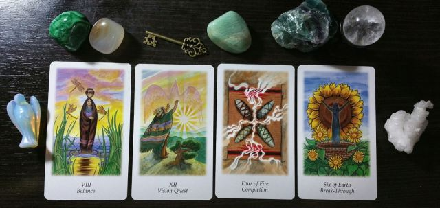 Vision Quest Tarot by Gayan Sylvie Winter and Jo Dose