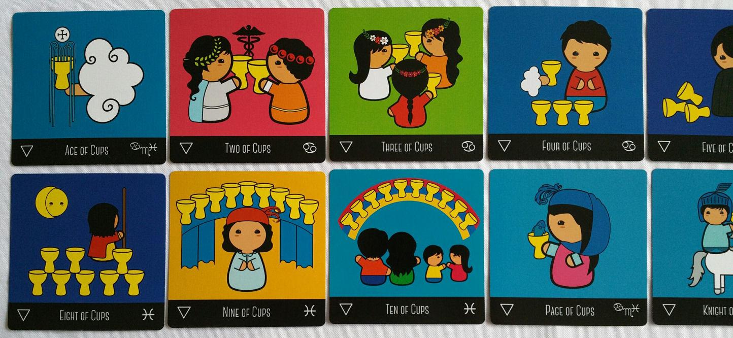 The Kokeshi Tarot and Reading Square Tarot Cards | benebell wen
