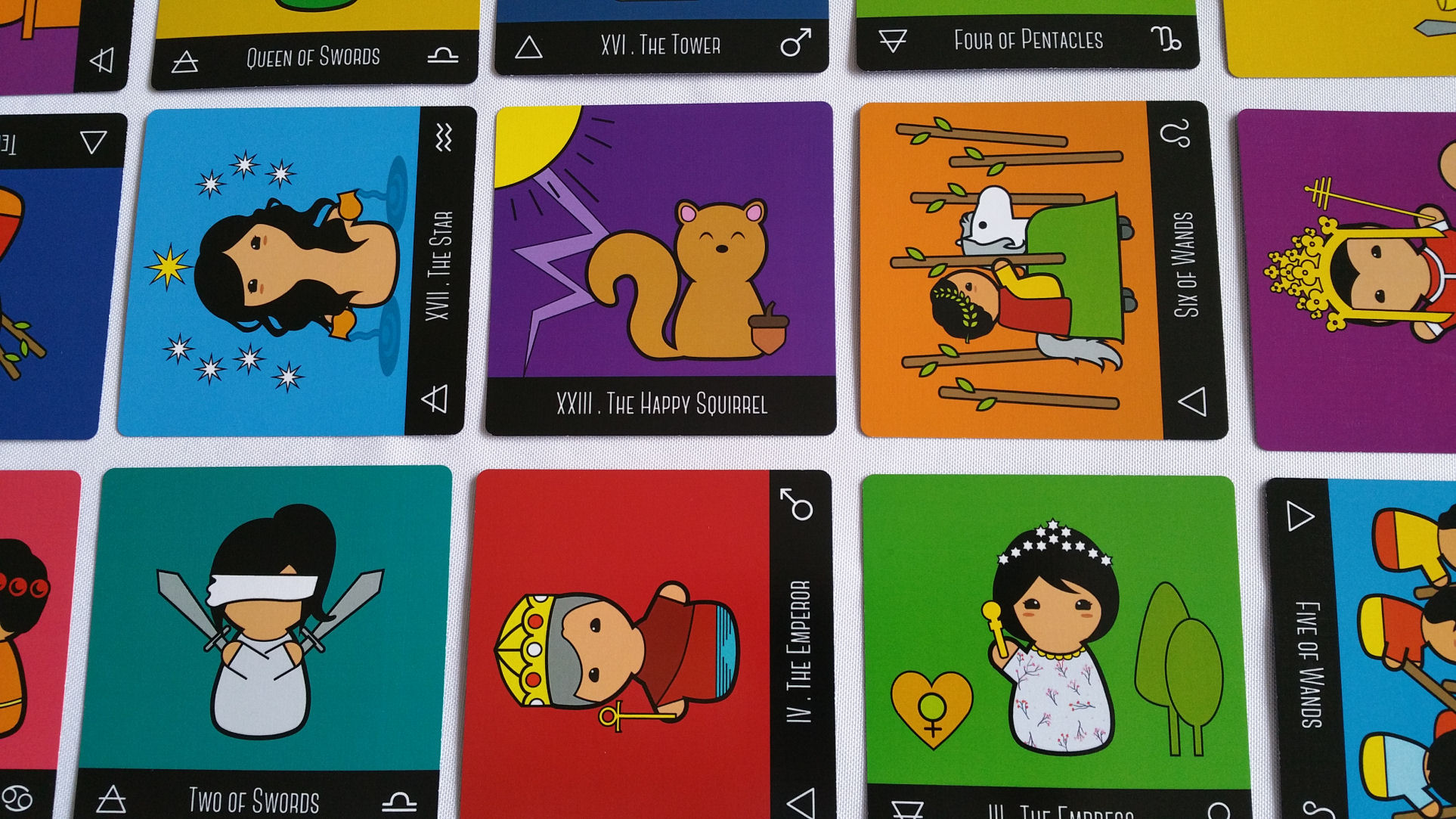The Kokeshi Tarot and Reading Square Tarot Cards | benebell wen
