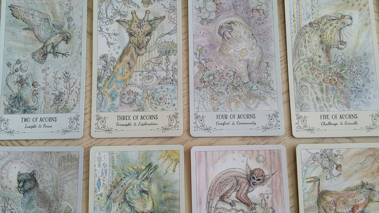 Spiritsong tarot by paulina cassidy benebell wen the point of view of this tarot deck isnt to emulate classic playing card traditions with the numbered symbolism on each pip ie three acorns literally buycottarizona Image collections
