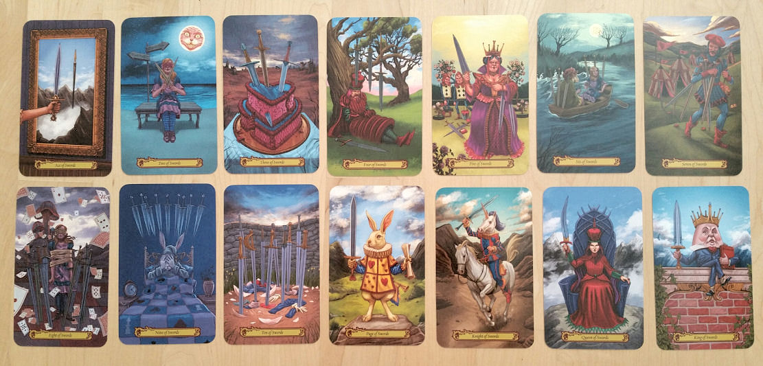 Tarot in Wonderland by Barbara Moore and Eugene Smith | benebell wen