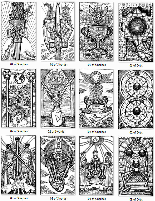 Drawing My Own Tarot Deck: Rumination Notes Aces To Threes