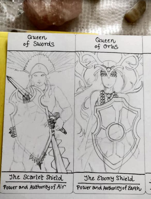 Drawing My Own Tarot Deck: Ruminations on the Court Cards | benebell wen
