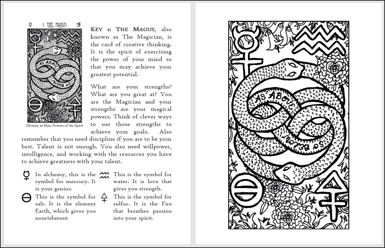 The Premise Of Coloring Book Is To Use Tarot And Namely My Spirit Keepers Deck Impart Everyday Insights Children
